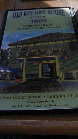 Old Key Lime House: menu