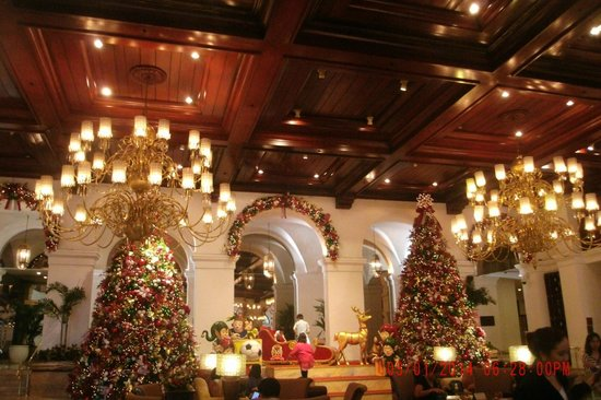 The Manila Hotel : Lovely timber ceiling