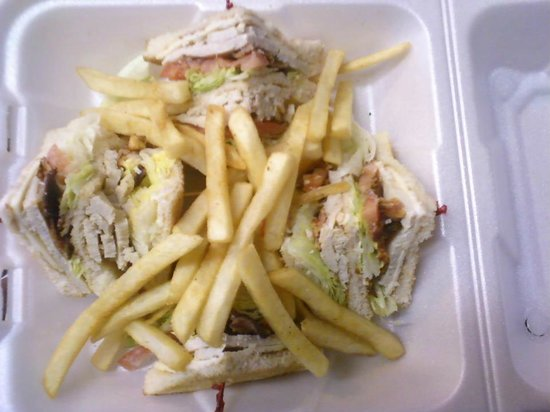 Kountry Korner Drive-In: Turkey Club with French Fries