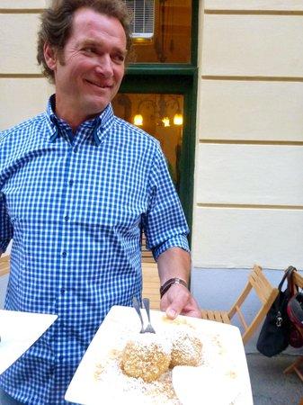 Winklers zum Posthorn: Owner, Walter Winkler and his wife's Mariellen Apricot Dumplings