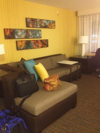 Residence Inn Springfield Chicopee : living room area