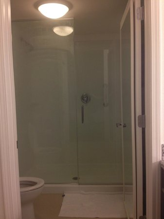 Residence Inn Springfield Chicopee: huge shower - takes up whole wall, big glass door