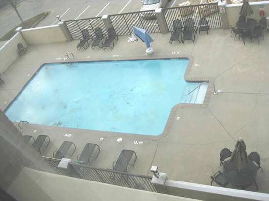 Holiday Inn Express & Suites : Pool with frozen leaves