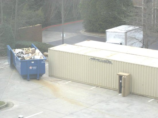 Holiday Inn Express & Suites : Dumpster & storage trailer