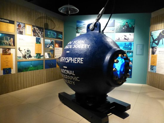 National Geographic Museum: The Bathosphere in the permanent exhibit