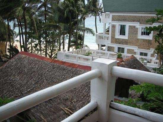 Diniwid Beach Resort: View from our Deluxe Double - Sampaguita A