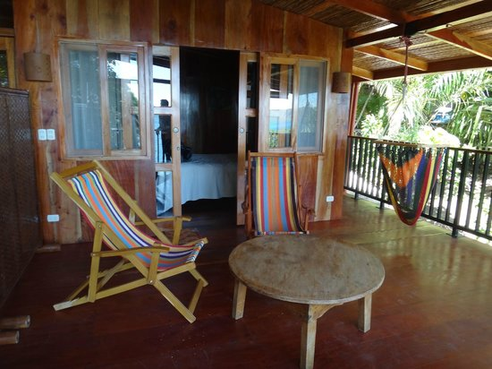 The Monkey Hut: Our private balcony overlooking the water