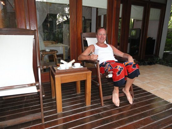Amata Resort and Spa : Coffee at our veranda