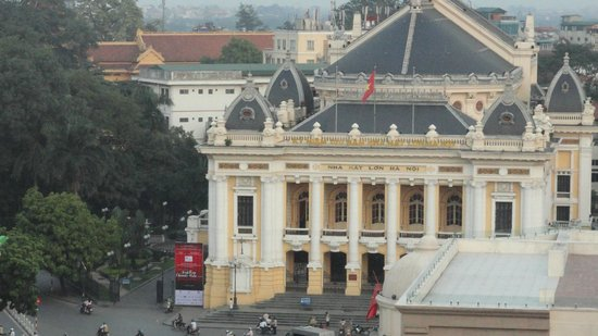 Hotel de l'Opera Hanoi - MGallery Collection: Zoomed view of the Opera House from the room