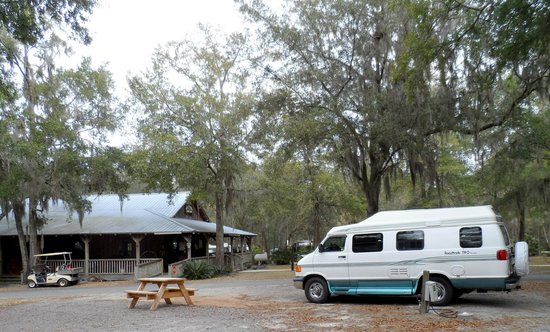 Country Oaks Campground & RV Park: One of the sites, near the office and restrooms