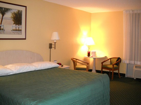 Ramada Plaza Fort Lauderdale : La habitación, amplia y cómoda, aunque sin frigobar