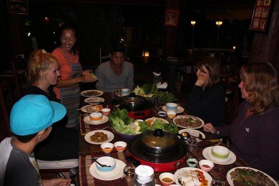 Tonnam Homestay: Our last dinner - sooo good!