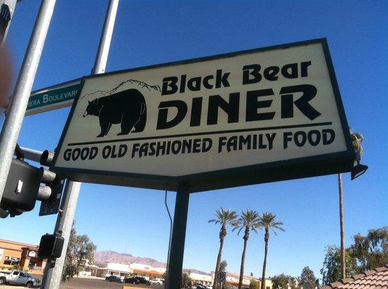 Black Bear Diner: The Bear sign outside