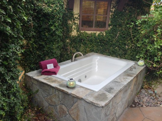 The Andalusian Court: Hot tub on patio of Villa 3