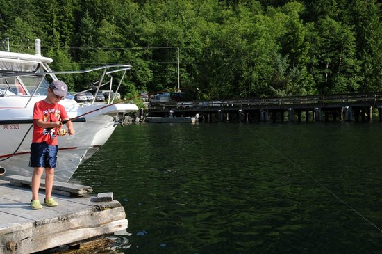 Fishing Storie Charters: Dock fishing for Mackeral