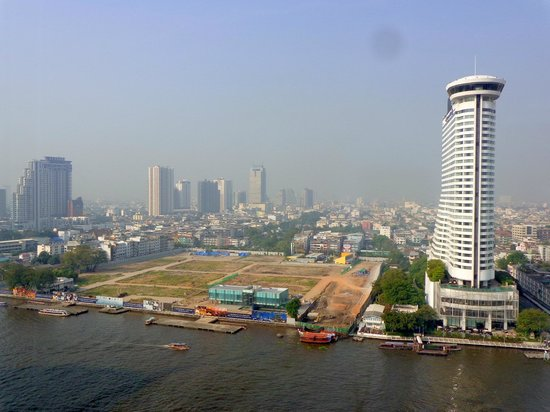 Royal Orchid Sheraton Hotel & Towers: Future noise-generating construction site across the river