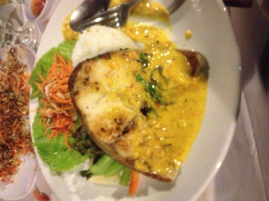 Grill Cobia Fish Cinnamon ( Ca Bop Nuong Xa) . It's An
