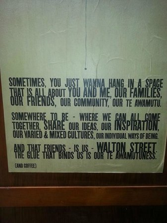 Walton Street Cafe : Sign on the wall - very true!