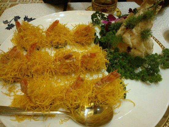 Lijingwan International Hotel: Креветки в сырно - горчичном соусе