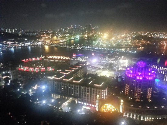 Tiger Sky Tower: Night view from the top