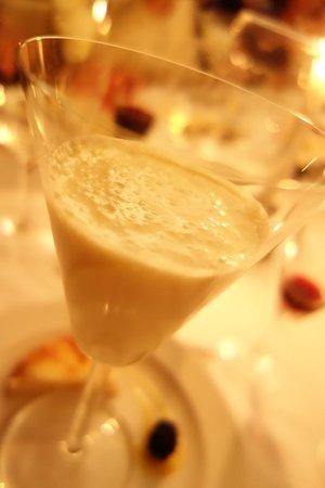 Hotel Bellevue : pinapple gazpacho for dessert..yum...