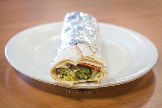 Falafel Bite Mediterranean Restaurant: Veggie Kabob Wrap