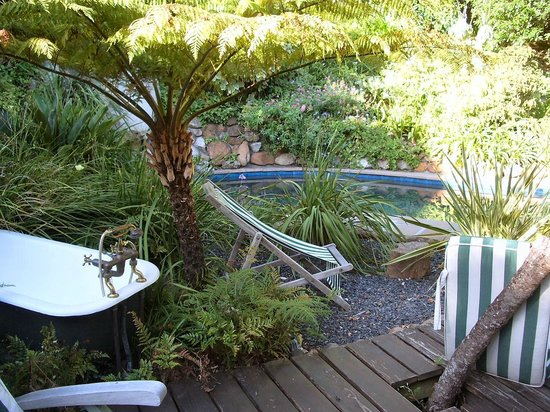 The Hout Bay Hideaway : Outdoor bath! and edge of pool