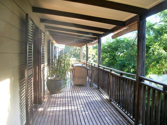 The Hout Bay Hideaway : The upstairs balcony
