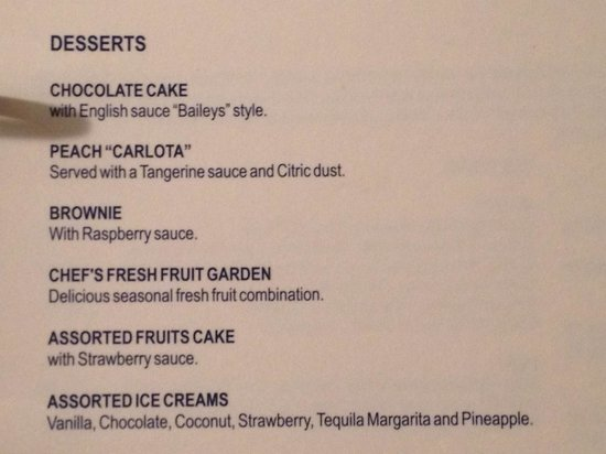 Secrets Maroma Beach Riviera Cancun: Room service menu page 5