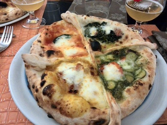 San Donato in Poggio, Italie : pizza quattro stagioni a sorpresa del pizzaiolo