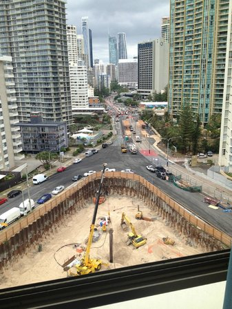 Seacrest Apartments: view #3 construction from loungeroom: unit 12D