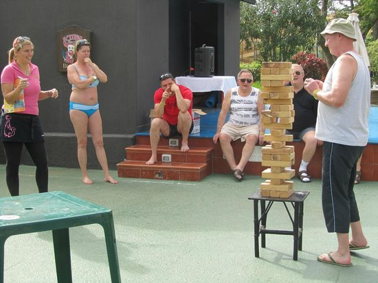 TRYP Tenerife : Ola (in pink top) overseeing a game of Jenga