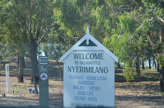 Nyerimilang Heritage Park: Welcome Sign