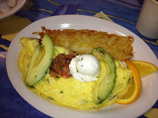 Mr. Mamas : Desayuno omelete con tortilla y aguacate