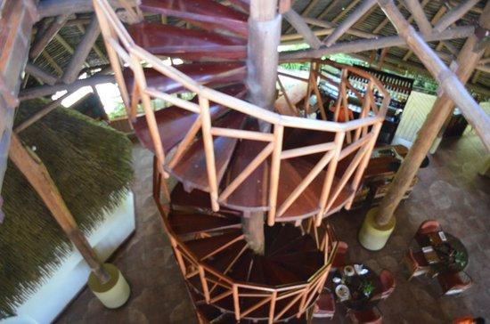 Lapa Rios Ecolodge Osa Peninsula: Stairway to observation platform