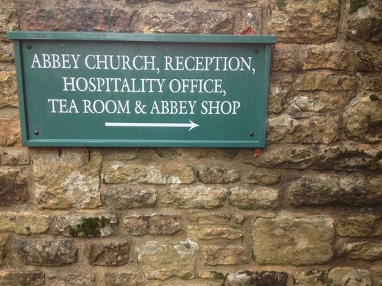 Ampleforth Abbey: Easy to follow signs!