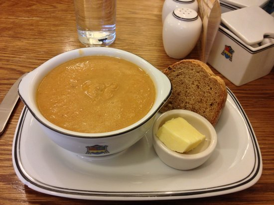 Ampleforth Abbey: Wonderful soups at the Tea Room.