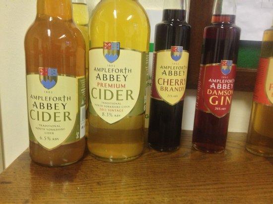 Ampleforth Abbey : Abbey ciders & Gin. Good stuff!