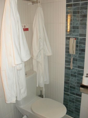 Xperience Sea Breeze Resort: Bathrobes and slippers provided in deluxe rooms
