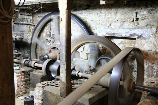 Densborner Wassermühle: Mühle transmission