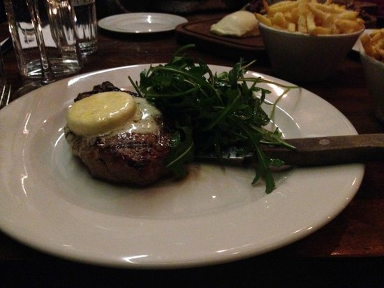 Coppi Restaurant: Sirloin with Smoked GarlicButter