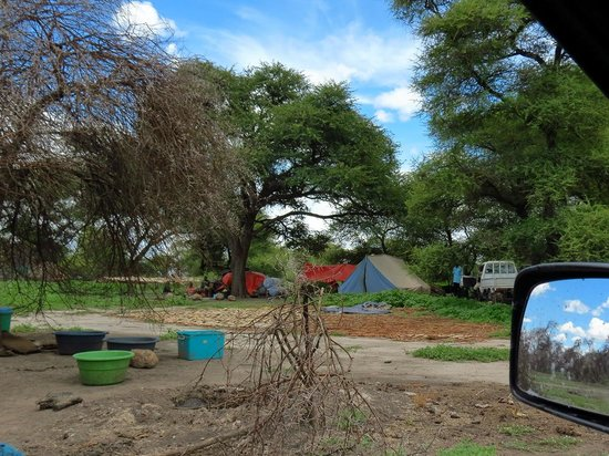 "Lake Ngami : One of the hundreds of ""tented camps"""