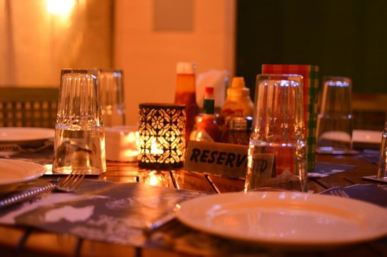 Hotel Shikha: The dim lighting makes 100% Rock at Hotel Shikha a great destination to sit out