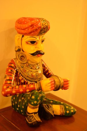 Hotel Shikha: Decor items like these give a vibrant character to the hotel.