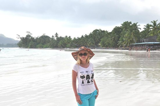 Le Duc de Praslin: Пляж, практически безлюдный