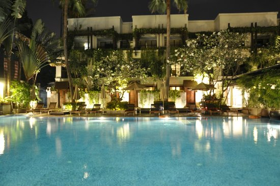 Burasari Resort: View from Room 1102 at night