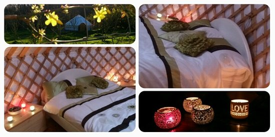 Ireland Glamping - Pink Apple Orchard : Winter Warm Feeling in your Yurt at pink Apple Glampsite