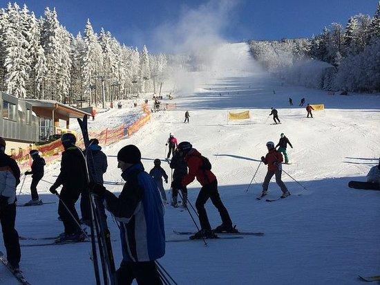 Wellness Hotel Vista: ski slope next to the hotel