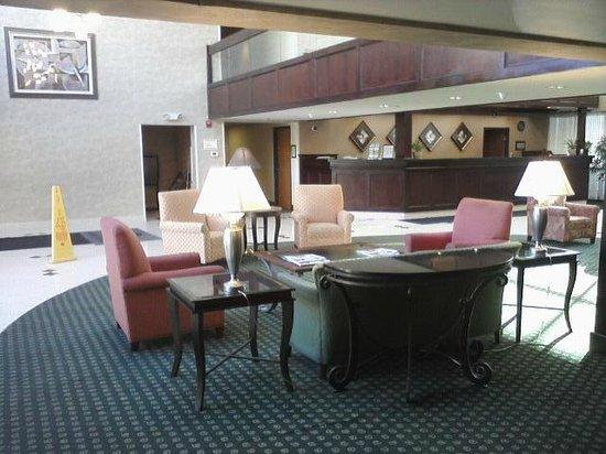 Radisson Hotel Detroit-Farmington Hills : Lobby... Note: high counter at check-in desk