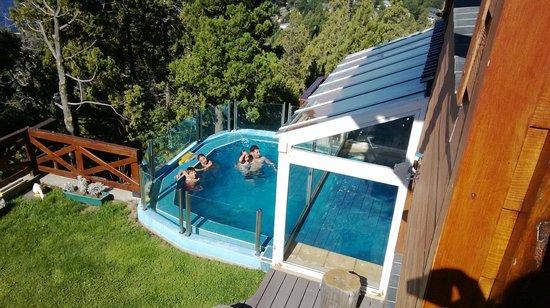 Catalonia Sur Aparts & Spa : Vista de la piscina desde nuestro apart
